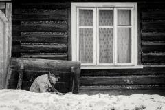 Trudy-zimy w Lanckoronie